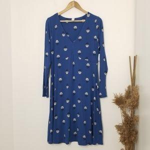 🆕️ Old Navy | Long Sleeve Blue Dress V-Neck Sz L